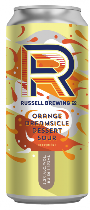 Orange Dreamsicle Dessert Sour by Russell Brewing Company in British Columbia, Canada