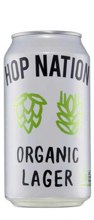 Organic Lager by Hop Nation Brewing Co. in Victoria, Australia