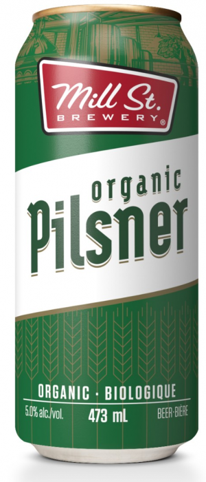 Organic Pilsner by Mill Street Brewery in Ontario, Canada