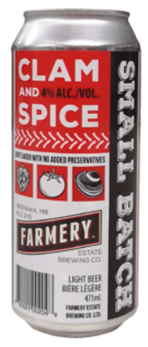 The Original Clam and Spice by Farmery Estate Brewery in Manitoba, Canada