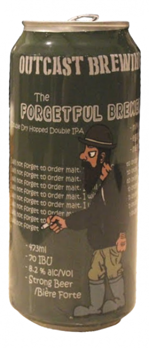 The Forgetful Brewer by Outcast Brewing in Alberta, Canada
