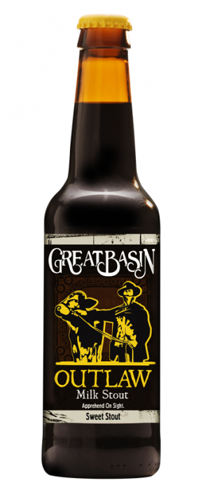 Outlaw Milk Stout by Great Basin Brewing Company in Nevada, United States