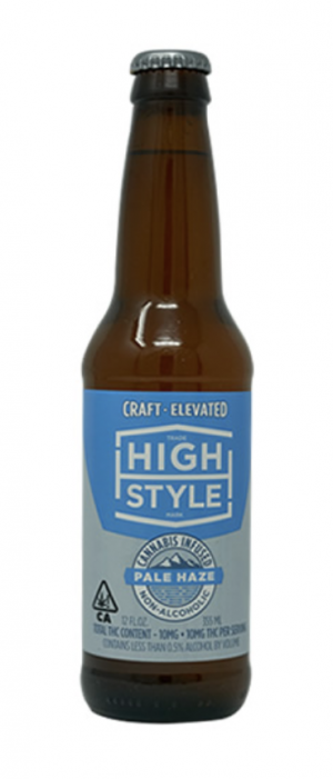 Pale Haze THC-Infused Beer by High Style Brewing Company in California, United States