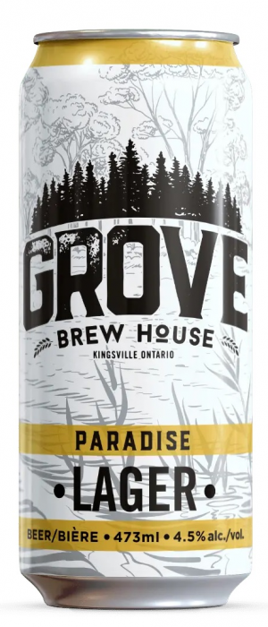 Paradise Lager by The Grove Brew House in Ontario, Canada