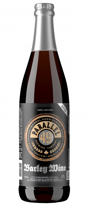 Barley Wine 2015 by Parallel 49 Brewing in British Columbia, Canada