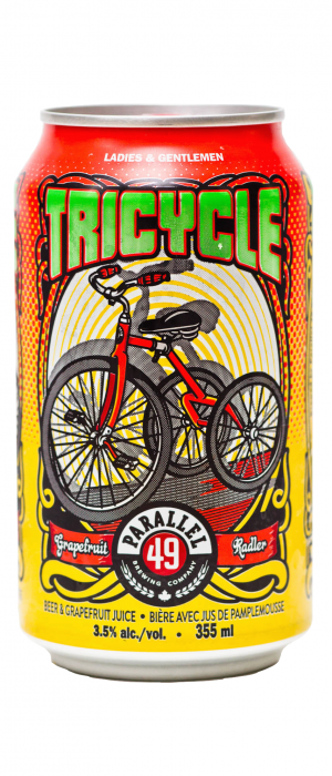 Tricycle Radler by Parallel 49 Brewing in British Columbia, Canada