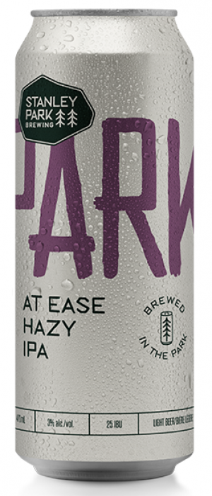 Parkbeer: At Ease Hazy IPA by Stanley Park Brewing in British Columbia, Canada