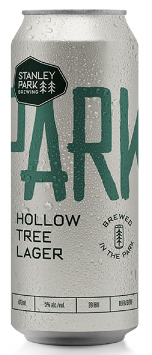 Parkbeer: Hollow Tree Lager by Stanley Park Brewing in British Columbia, Canada