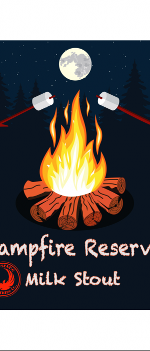 Campfire Reserve Milk Stout by Parkersburg Brewing Company in West Virginia, United States