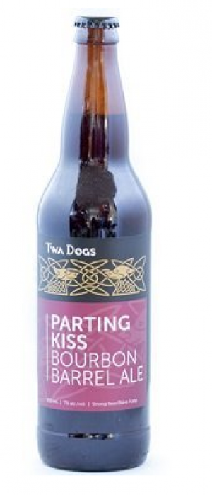 Twa Dogs Parting Kiss Bourbon Barrel Ale by Victoria Caledonian Brewery & Distillery in British Columbia, Canada