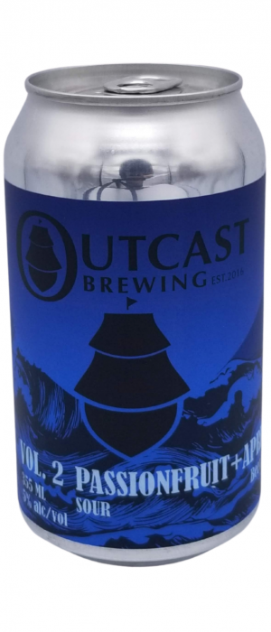 Passionfruit + Apricot Sour by Outcast Brewing in Alberta, Canada