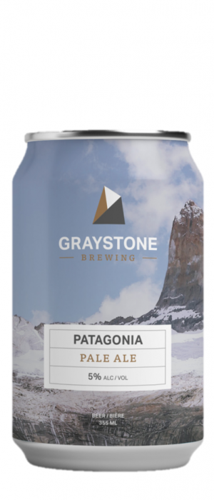 Patagonia Pale Ale by Graystone Brewing in New Brunswick, Canada