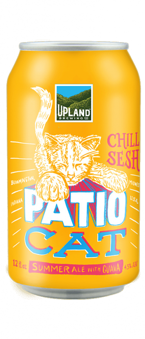 Patio Cat Summer Ale with Guava by Upland Brewing Company in Indiana, United States