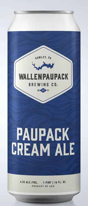 Paupack Cream Ale by Wallenpaupack Brewing Company in Pennsylvania, United States