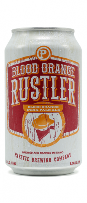 Blood Orange Rustler IPA by Payette Brewing Company in Idaho, United States
