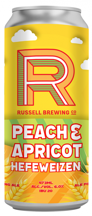 Peach & Apricot Hefeweizen by Russell Brewing Company in British Columbia, Canada
