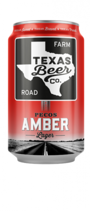 Pecos Amber Lager by Texas Beer Co. in Texas, United States