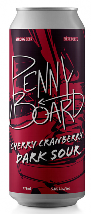 Penny Board Cranberry Cherry Sour by O.T. Brewing Company in Alberta, Canada