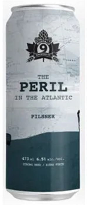 The Peril in the Atlantic Pilsner by Buffalo 9 Brewing Company in Alberta, Canada