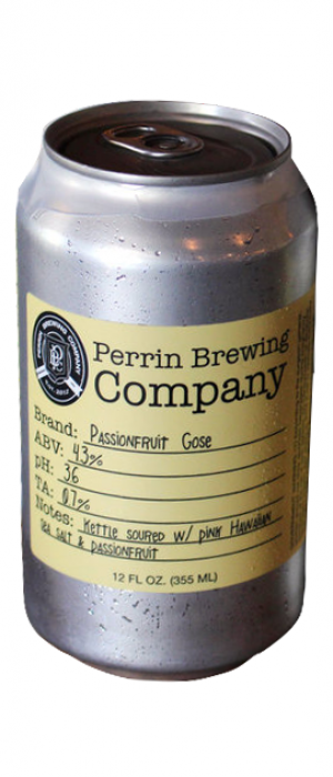 Passionfruit Gose by Perrin Brewing Company in Michigan, United States
