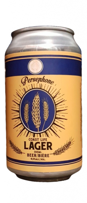 Coast Life Lager by Persephone Brewing Company in British Columbia, Canada