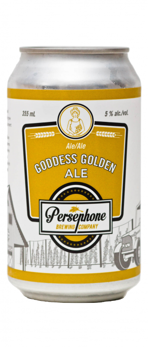 Goddess Golden Ale by Persephone Brewing Company in British Columbia, Canada