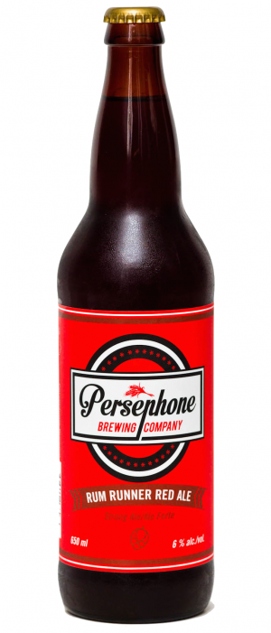Rum Runner Red Ale by Persephone Brewing Company in British Columbia, Canada