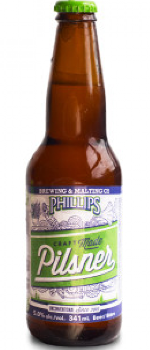 Pilsner by Phillips Brewing & Malting Company in British Columbia, Canada