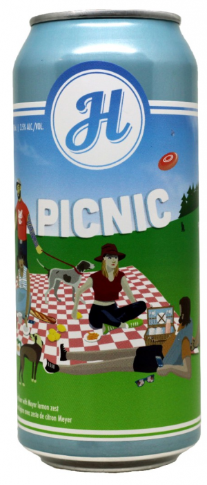 Picnic Table Beer with Meyer Lemon by Henderson Brewing Company in Ontario, Canada