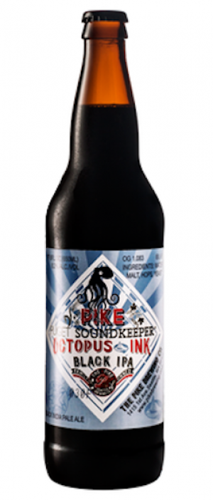 Pike Octopus Ink Black IPA by The Pike Brewing Company in Washington, United States