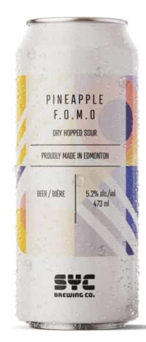 Pineapple F.O.M.O. by SYC Brewing Co. in Alberta, Canada