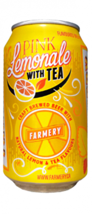 Pink Lemonade with Tea by Farmery Estate Brewery in Manitoba, Canada