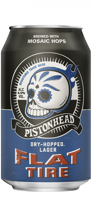 Pistonhead Flat Tire by Brutal Brewing in Södermanland and Uppland, Sweden