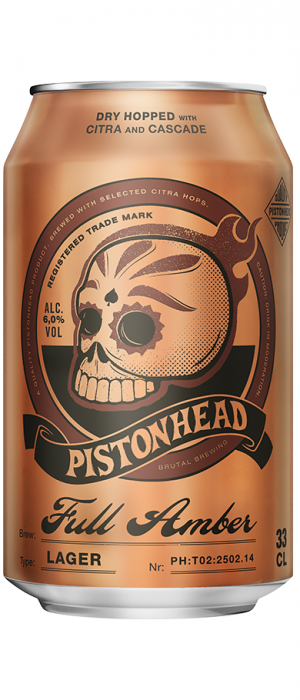 Pistonhead Full Amber by Brutal Brewing in Södermanland and Uppland, Sweden