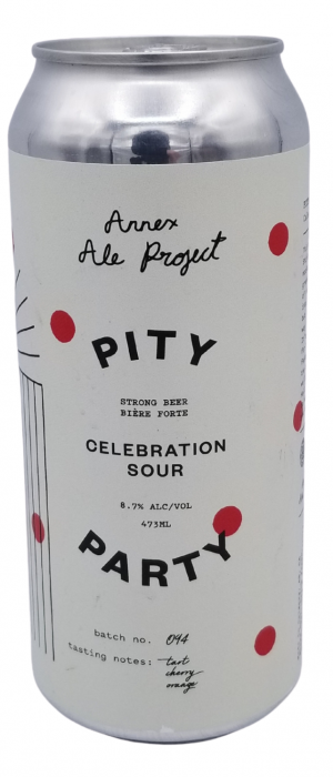 Pity Party Celebration Sour by Annex Ale Project in Alberta, Canada