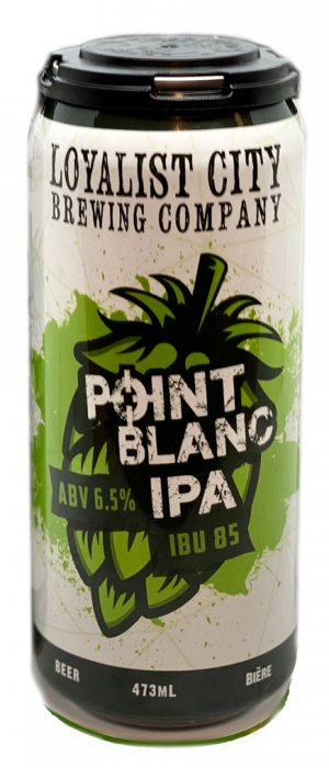Point Blanc IPA by Loyalist City Brewing Co. in New Brunswick, Canada