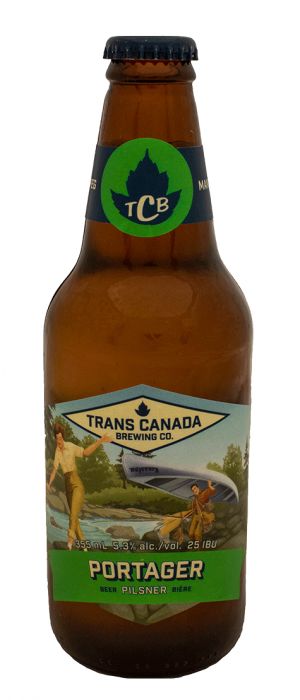 Portager Bohemian Pilsner by Trans Canada Brewing Co. in Manitoba, Canada