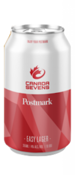 Canada Sevens Easy Lager by Postmark Brewing in British Columbia, Canada