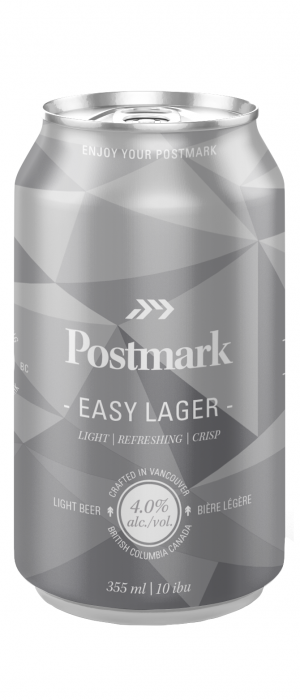 Easy Lager by Postmark Brewing in British Columbia, Canada