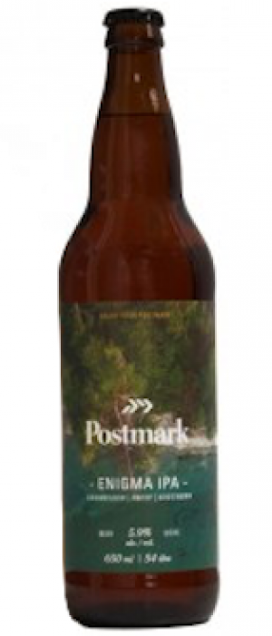 Enigma IPA by Postmark Brewing in British Columbia, Canada