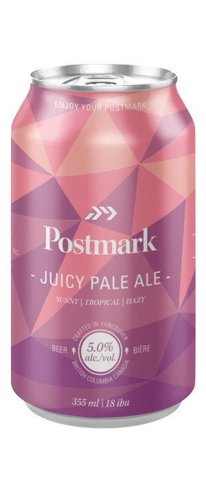 Juicy Pale Ale by Postmark Brewing in British Columbia, Canada