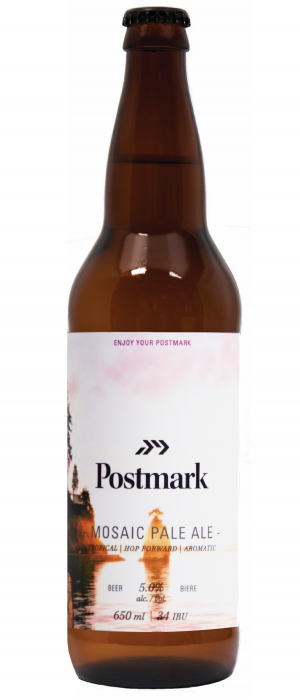 Mosaic Pale Ale by Postmark Brewing in British Columbia, Canada