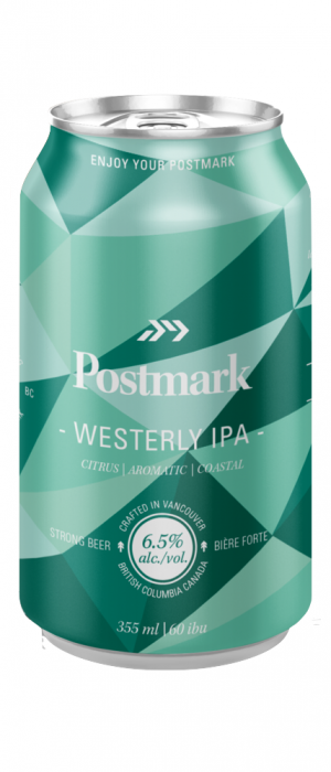 Westerly IPA by Postmark Brewing in British Columbia, Canada