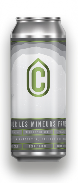 Pour Les Mineurs Frais Fresh Hop Grisette by Container Brewing Co. in British Columbia, Canada