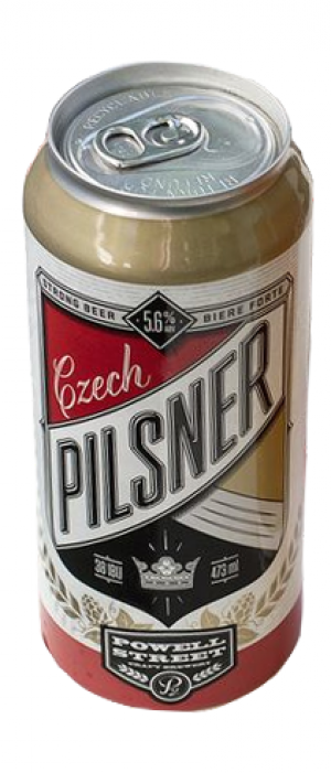 Czech Style Pilsner by Powell Brewery in British Columbia, Canada