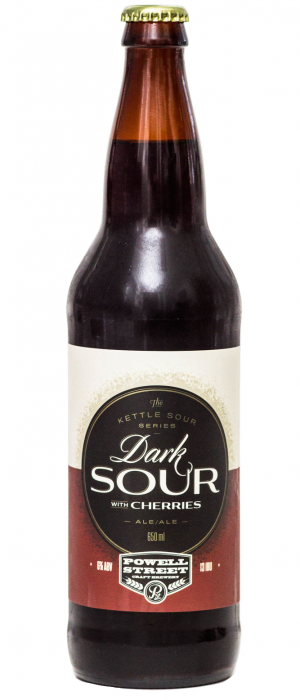 Dark Sour With Cherries by Powell Brewery in British Columbia, Canada
