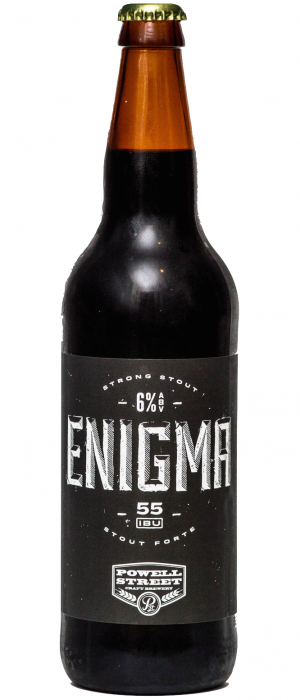 Enigma Stout by Powell Brewery in British Columbia, Canada