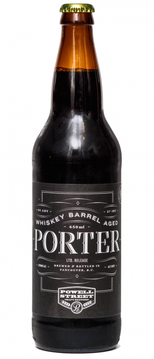 Whiskey Barrel Aged Porter by Powell Brewery in British Columbia, Canada
