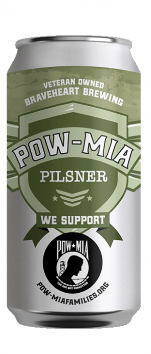 POW-MIA Pilsner by Braveheart Brewing in Oregon, United States