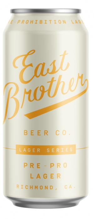 Pre-Pro Lager by East Brother Beer Company in California, United States
